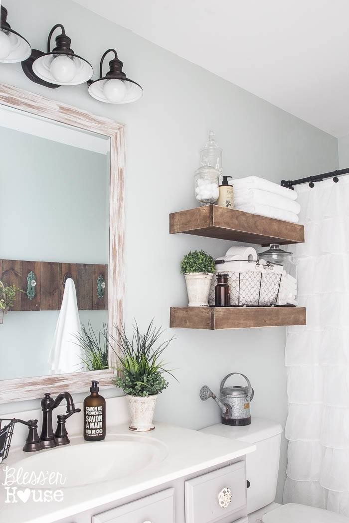 Modern Farmhouse Bathroom - Bathroom Organization