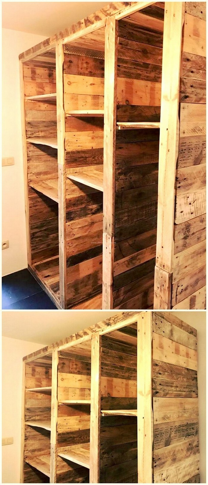 Pallet Cabinet Cheap And Easy To Make Pallet Crafts