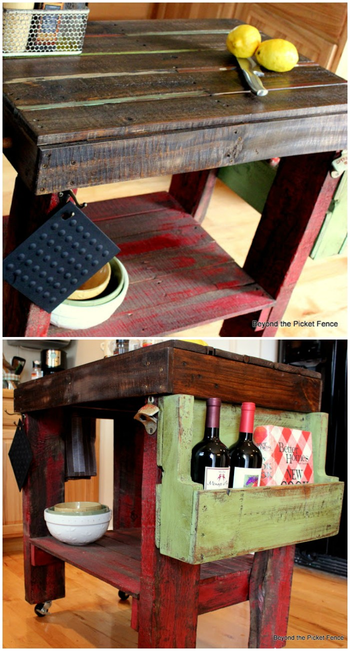 Pallet Kitchen Island Easy Kitchen Island Projects For You To DIY