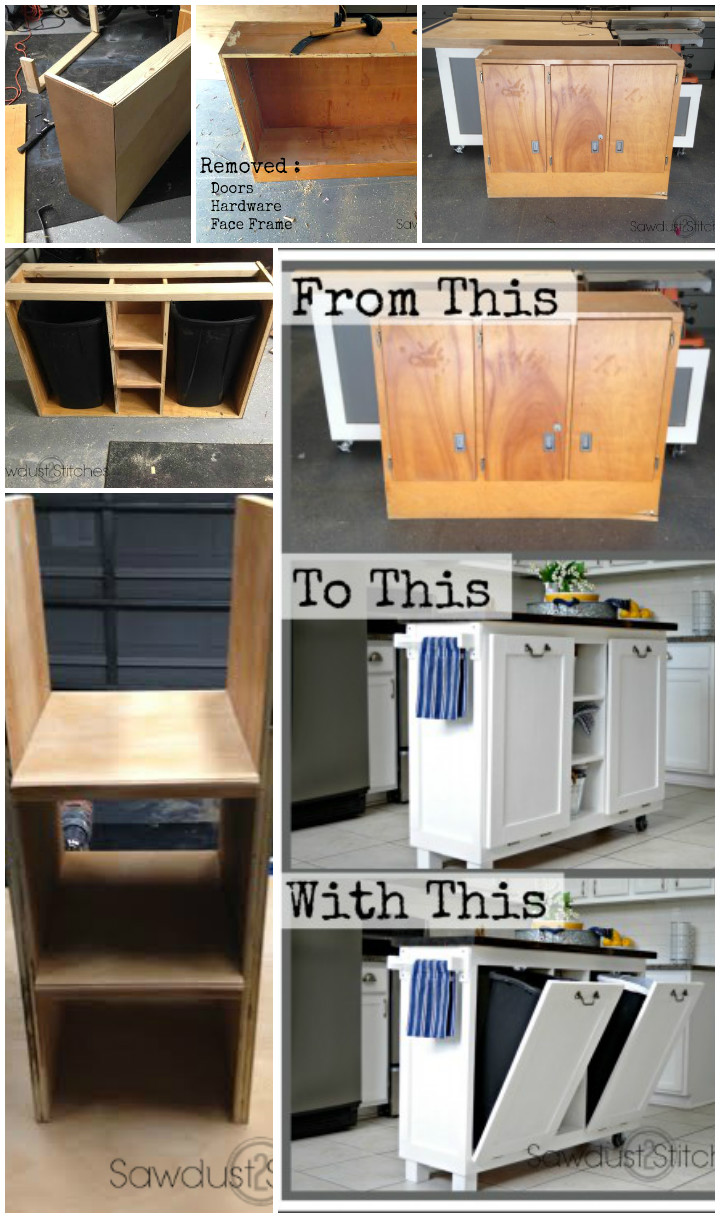 Reclaimed Cabinet into Kitchen Island DIY Furniture Projects To Beautify Your Home
