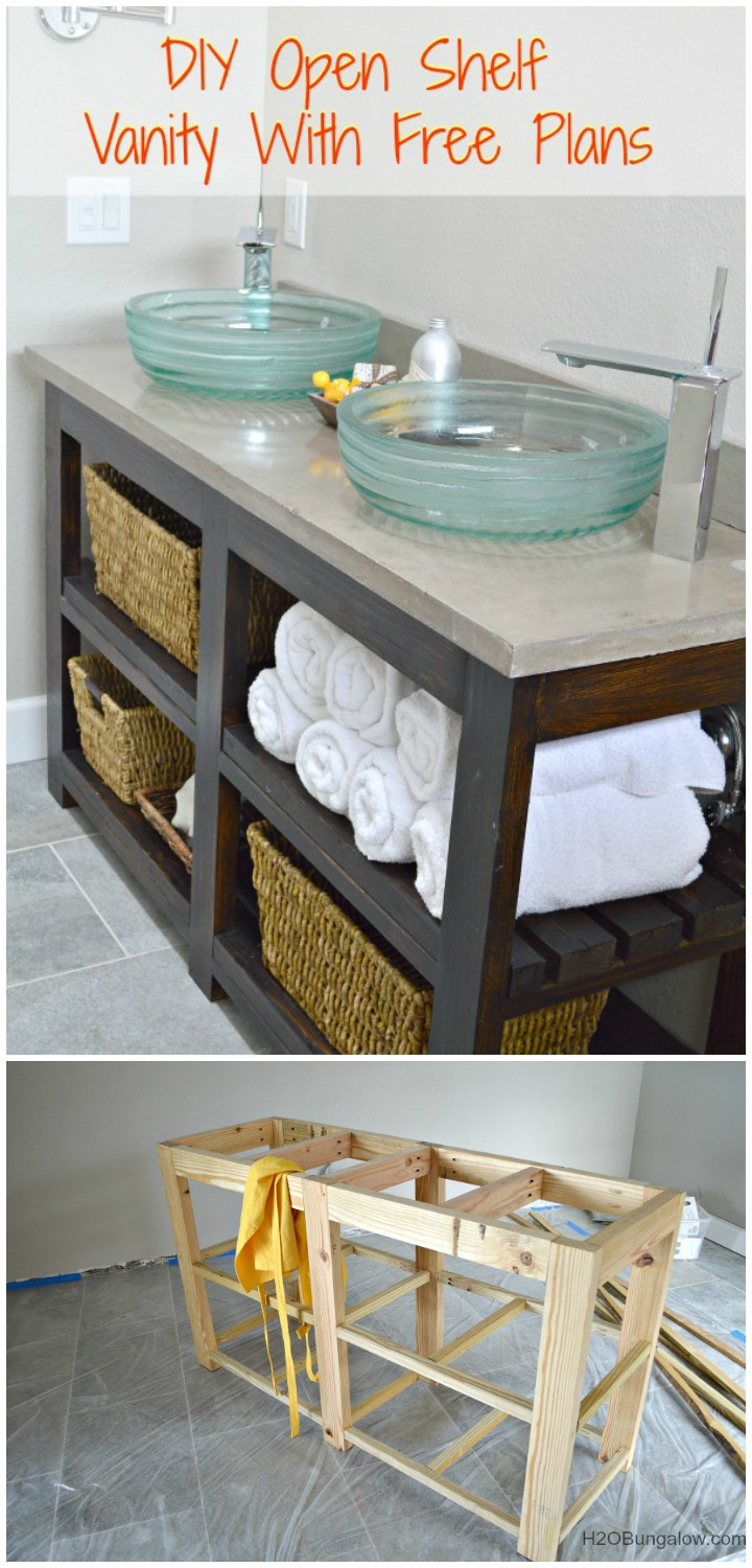 Shelf Bathroom Vanity DIY Furniture Projects To Beautify Your Home