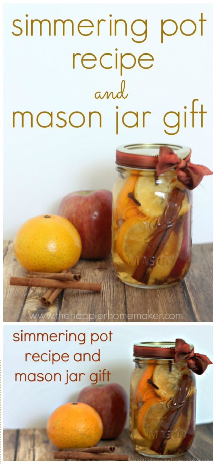 Simmering Pot Recipe and Mason Jar Gift 30 Interesting Mason jar craft ideas for fall décor