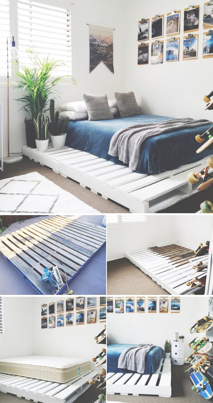 Simple DIY Palled Bed - diy bed frame - DIY Bed Plans -diy bed