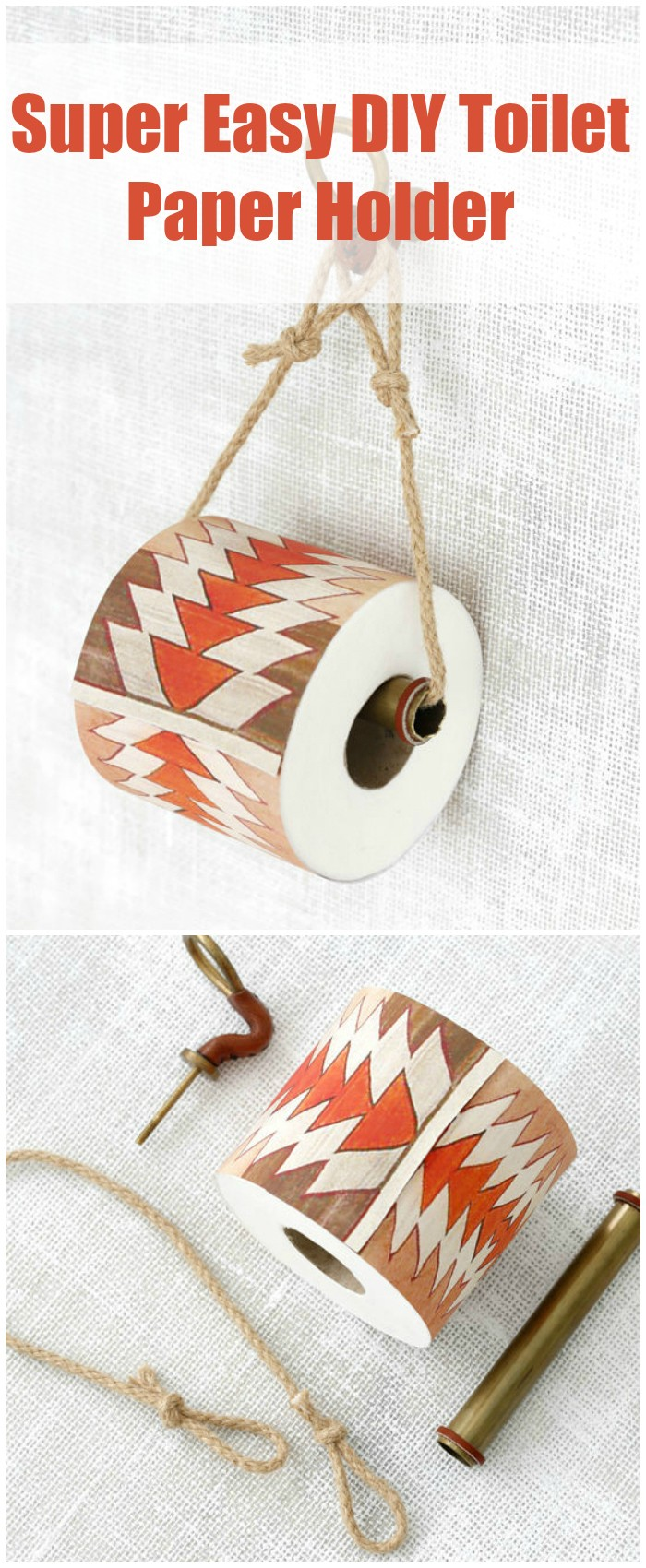 Super Easy DIY Toilet Paper Holder DIY Toilet Paper Holder Ideas   Add Decor To Bathroom