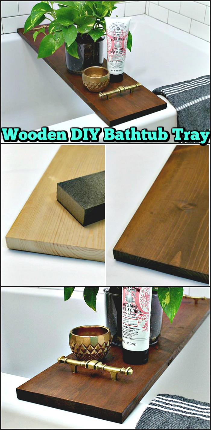 Wooden DIY Bathtub Tray
