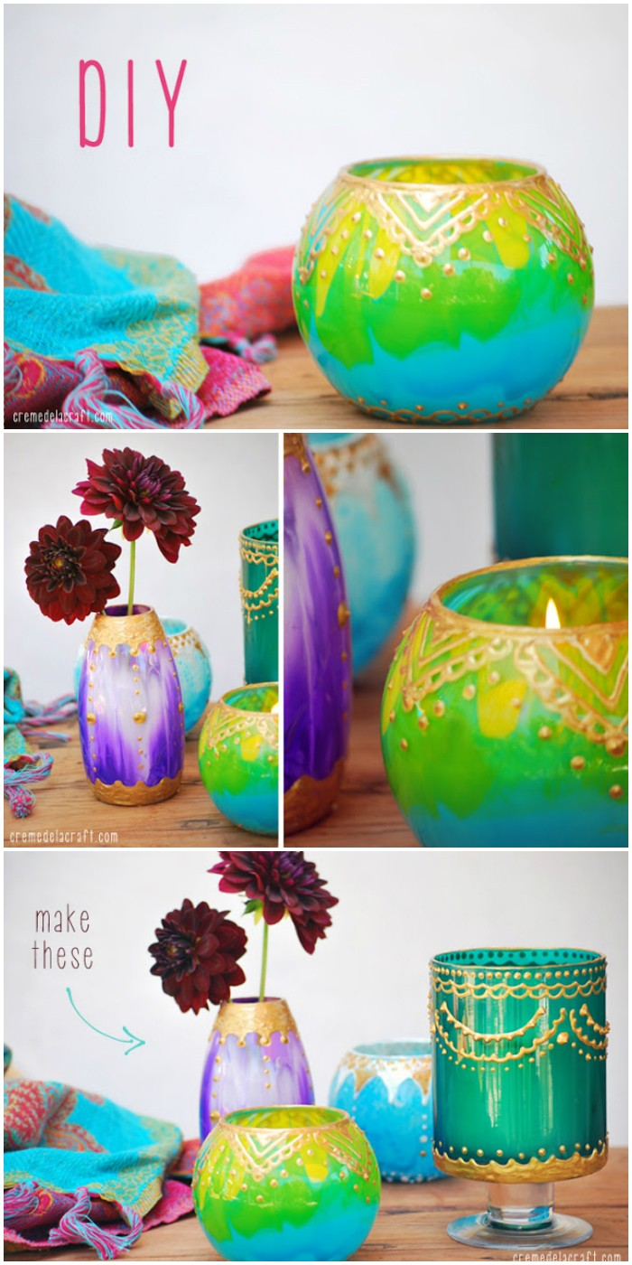 DIY Moroccan Candle Holders - diy crafts for home decor