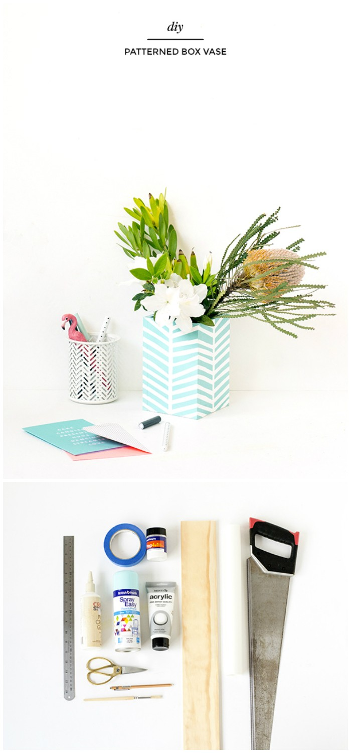 DIY Patterned Box Vase - diy crafts for home decor