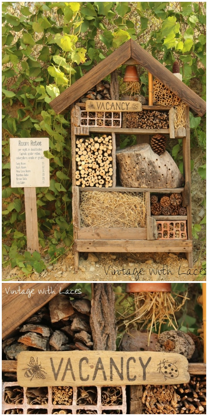 Insect Hotel by Vintage with Laces