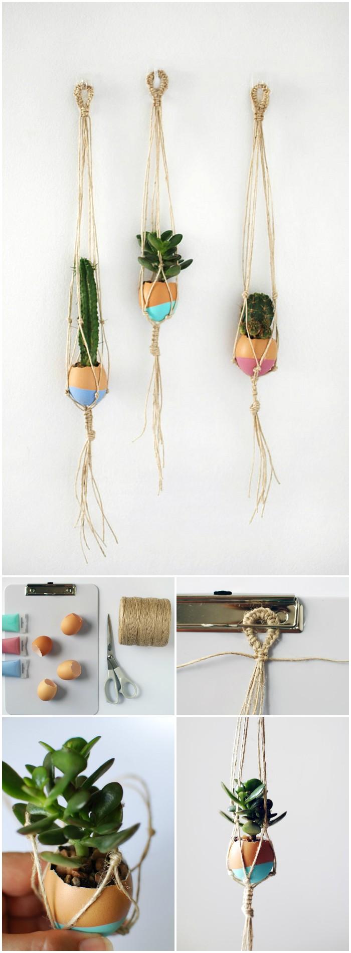 Succulent Egg Plant Hangers