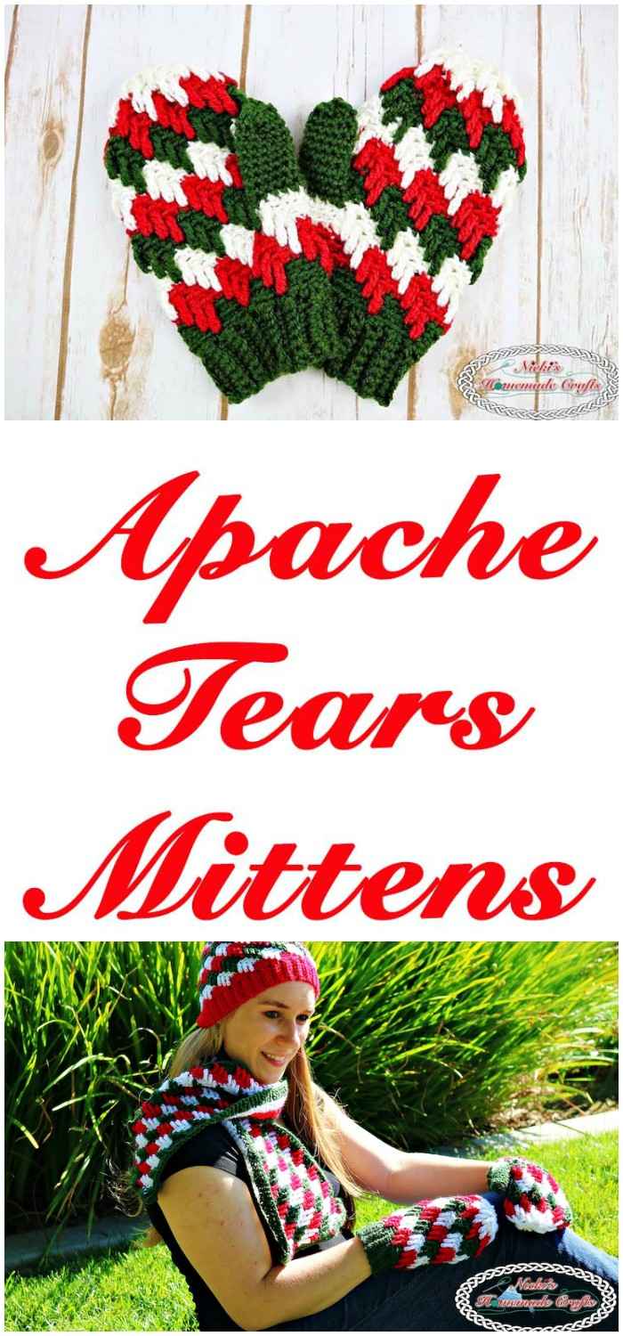 Apache Tears Mittens Free Crochet Pattern From Home To Accessories