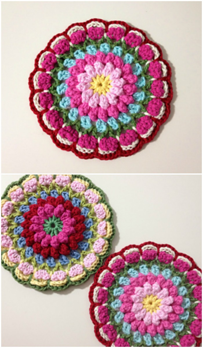 Bobbly Flower Mandala Stunning Free Crochet Mandala Patterns