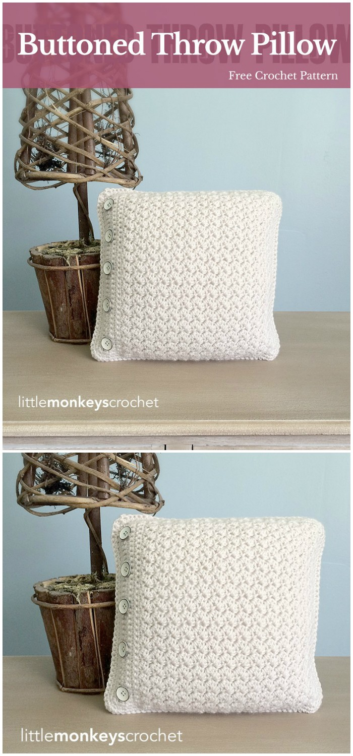 Buttoned Throw Crochet Cover