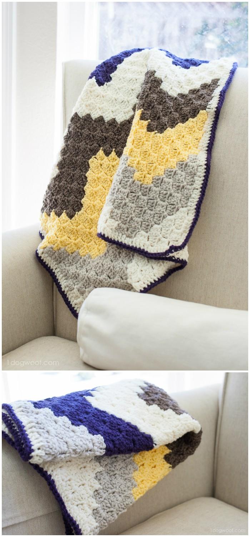 C2c Chevron Baby Blanket