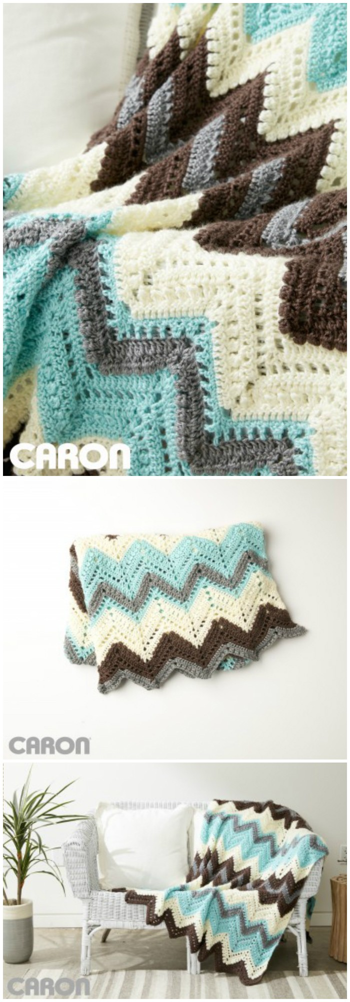 Cabin In The Woods Afghan Free Crochet Pattern - crochet blanket