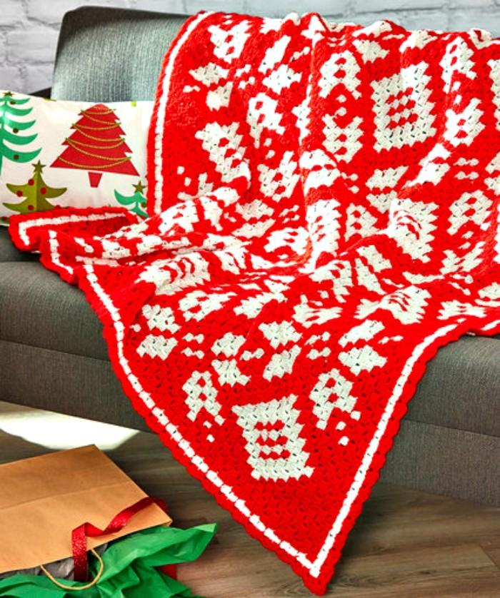 Corner-to-Corner Snowflake Blanket