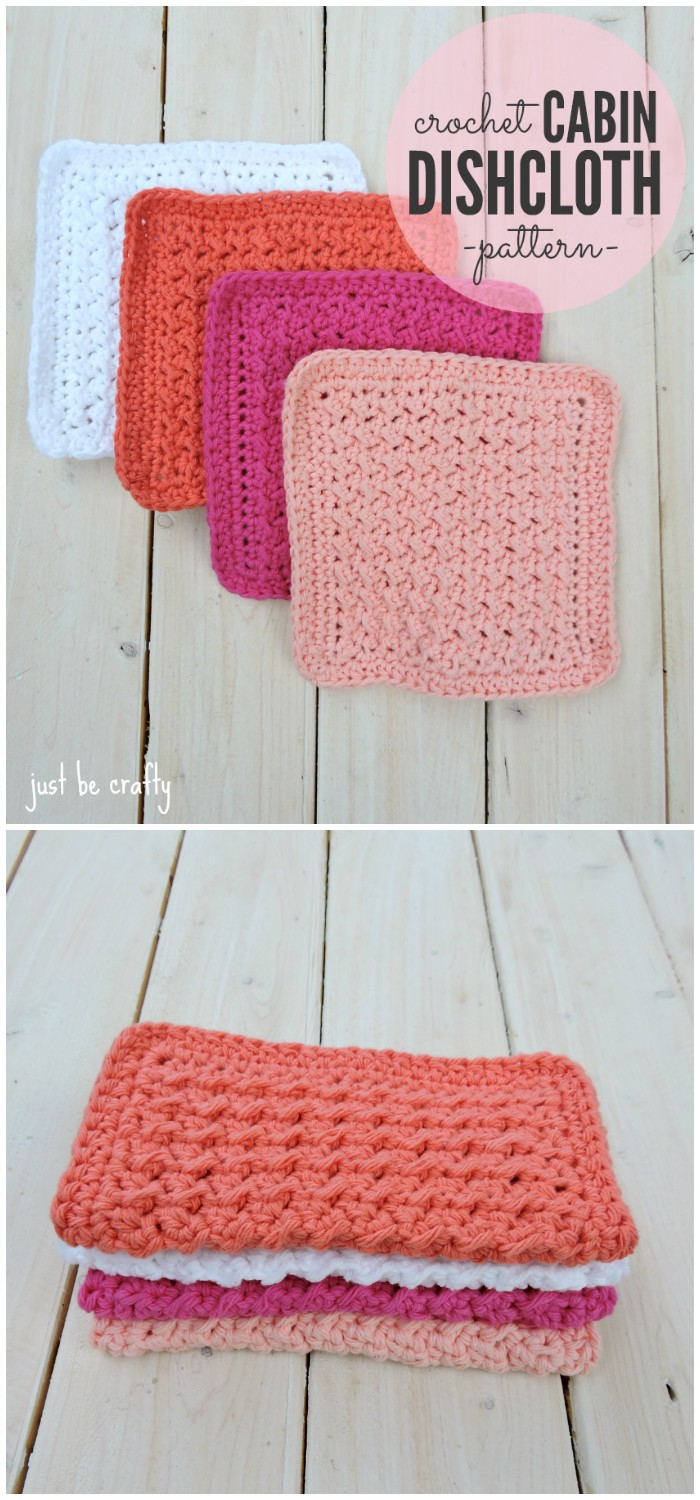 Crochet Cabin Dishcloth Pattern
