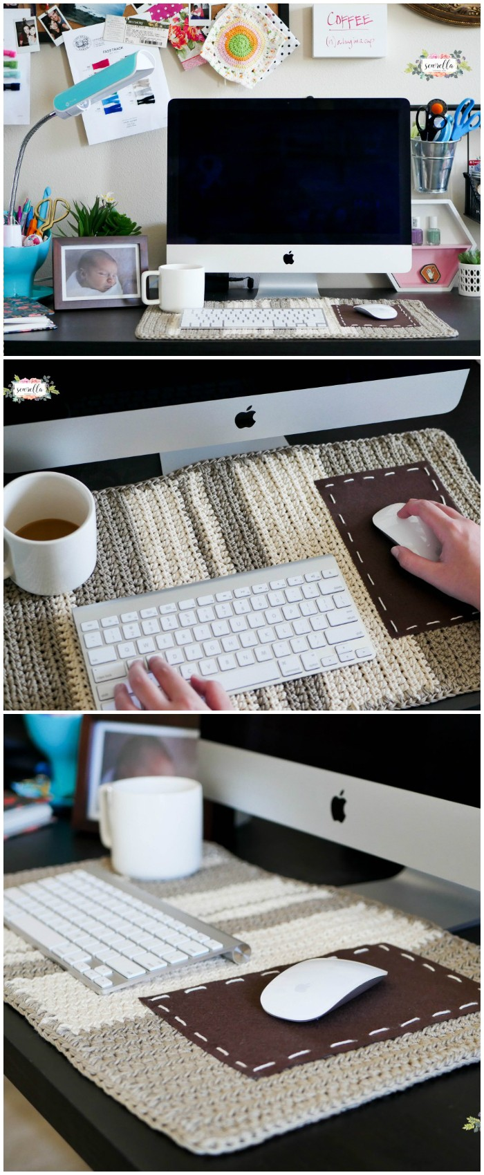 Crochet Desk Mat Free Crochet Pattern From Home To Accessories