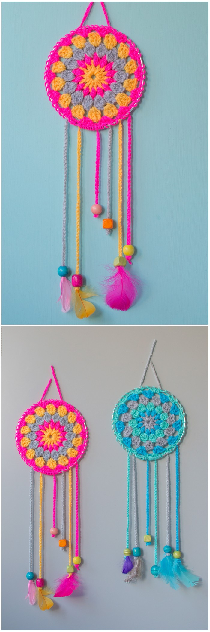 Crochet Dream Catcher - crochet home decor