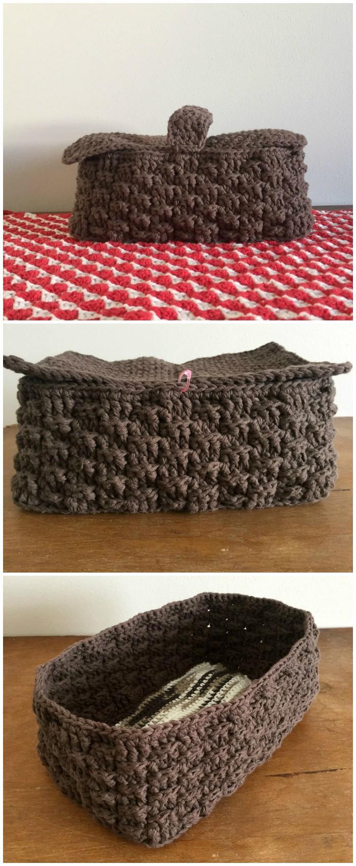 Crochet Picnic Basket Free Pattern