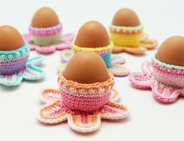 Easter Egg Cups Free Crochet Pattern - crochet cozy