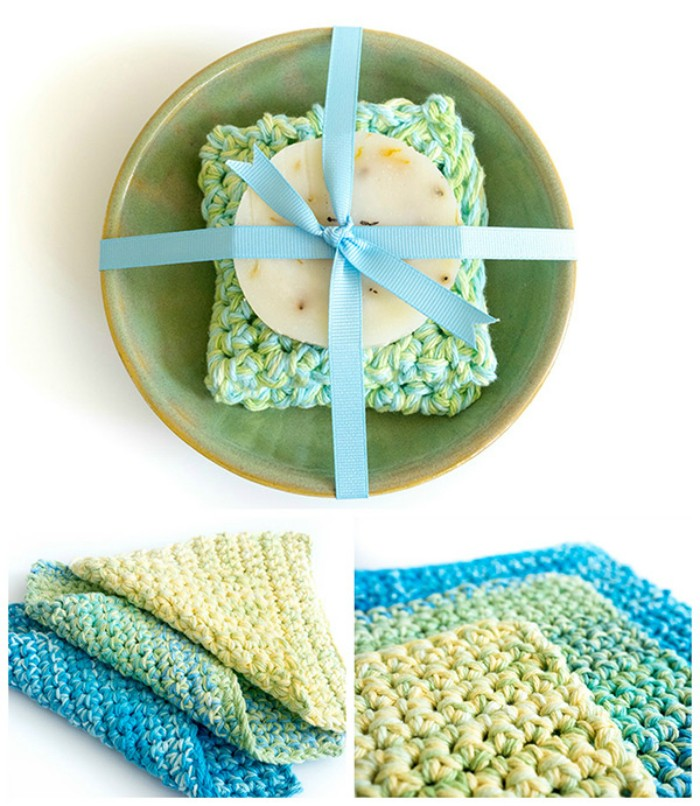Easy Thick Crochet Dishcloth Pattern