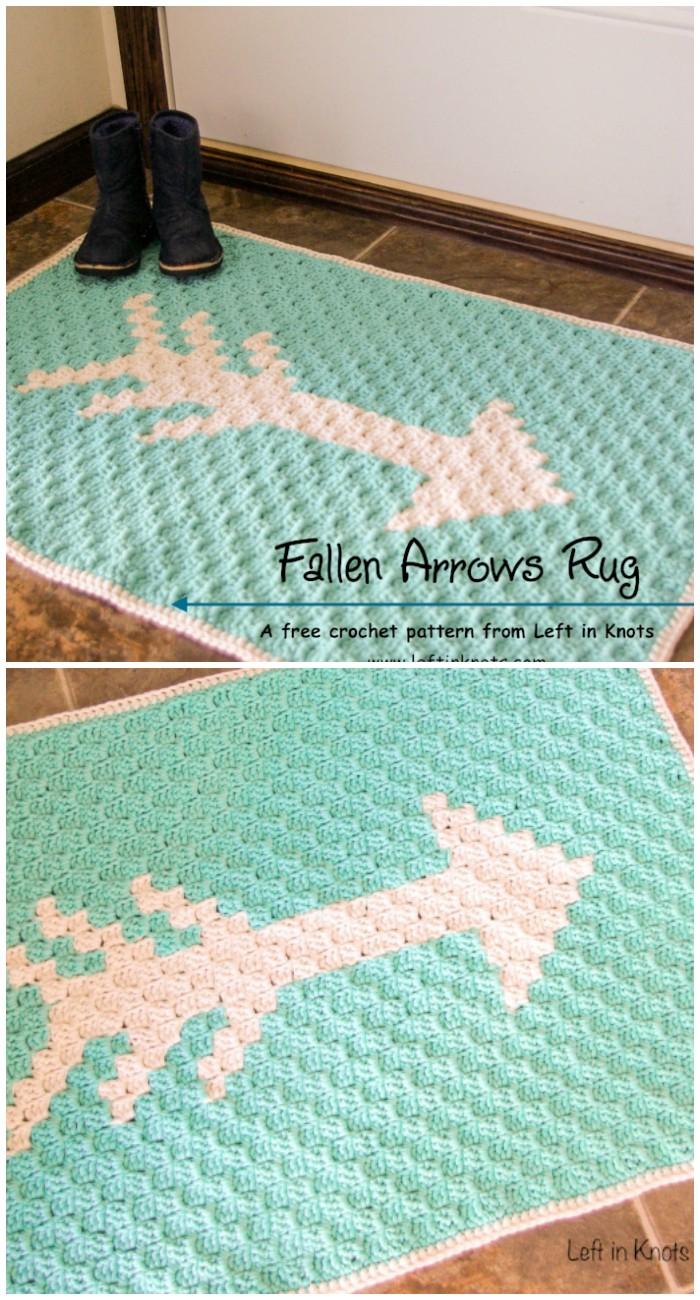 Fallen Arrows Rug Gorgeous Crochet Rug Patterns   Free Patterns
