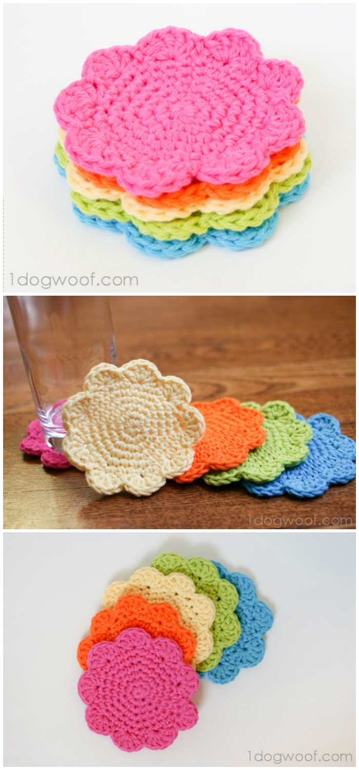 Flower Crochet Coasters