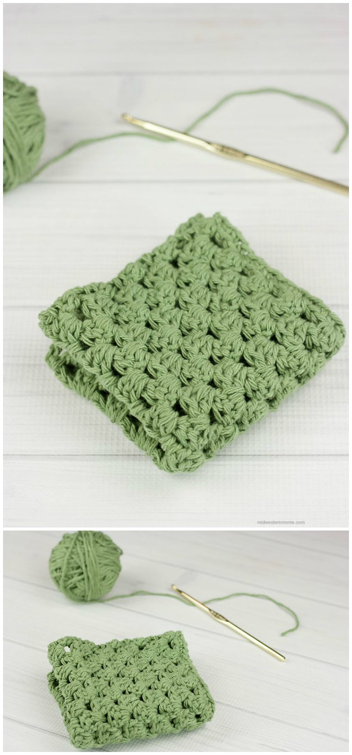 Granny Stripe Crochet Dishcloth Pattern