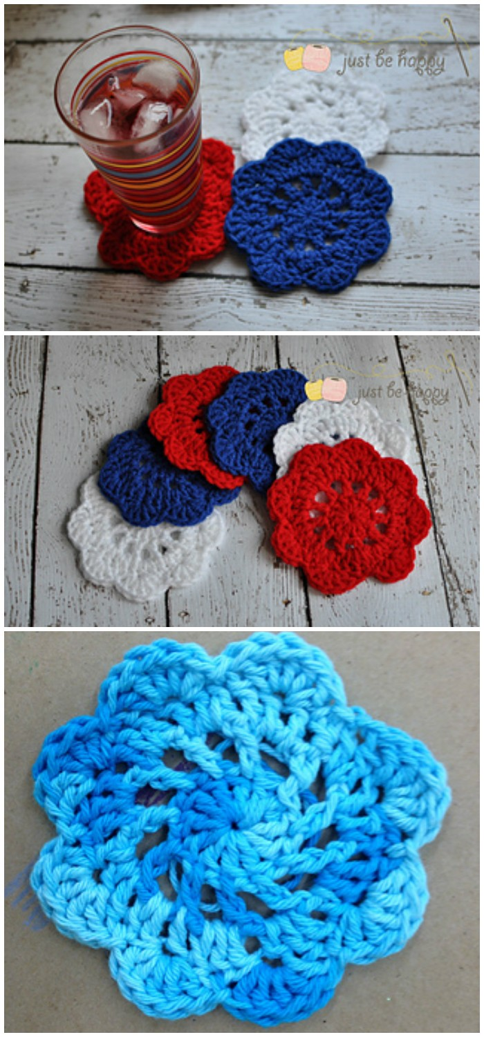 Happy Doily Coasters Free Crochet Coaster Patterns For Your Home
