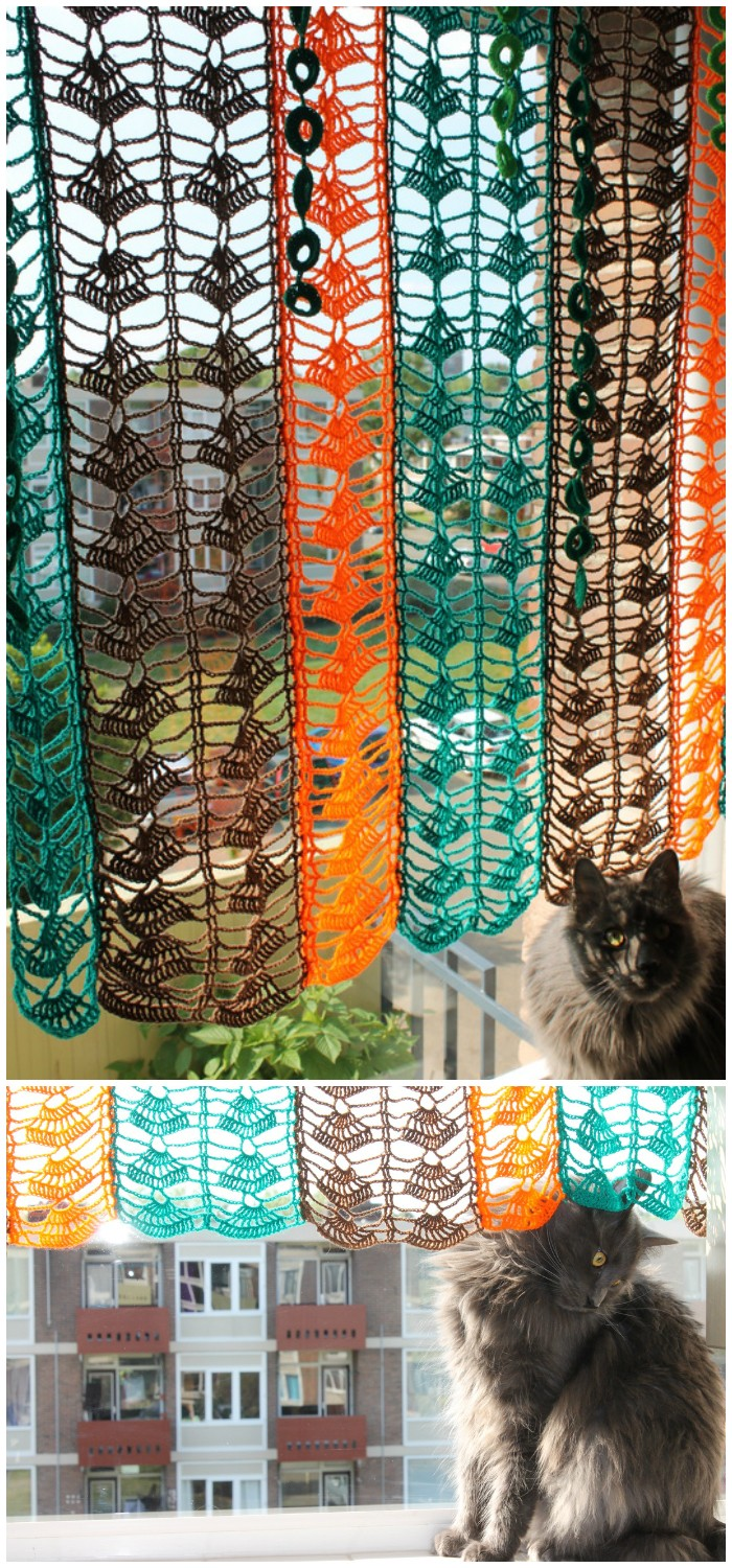 Just a colorful curtain Free Crochet Curtain Patterns For Your Home Decor