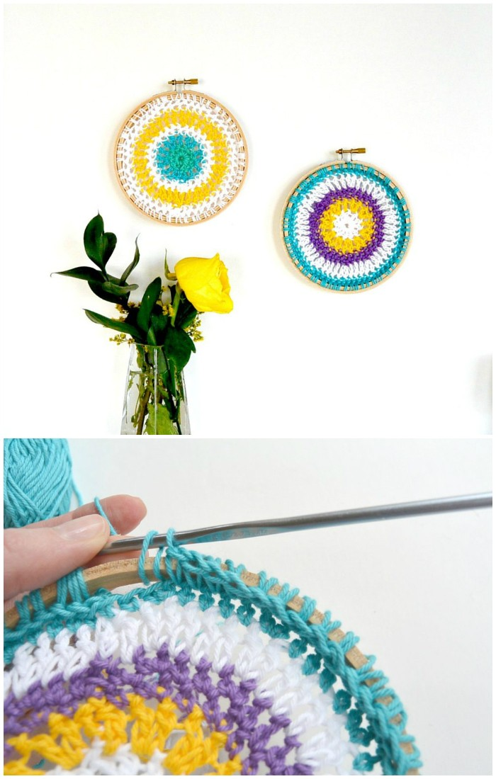 Little Crochet Hoop Mandalas