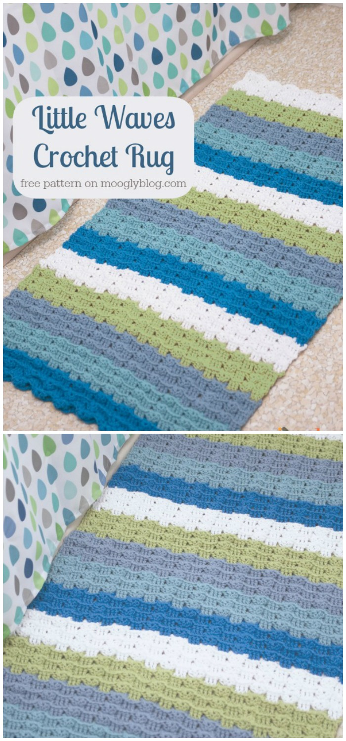 Little Waves Crochet Rug