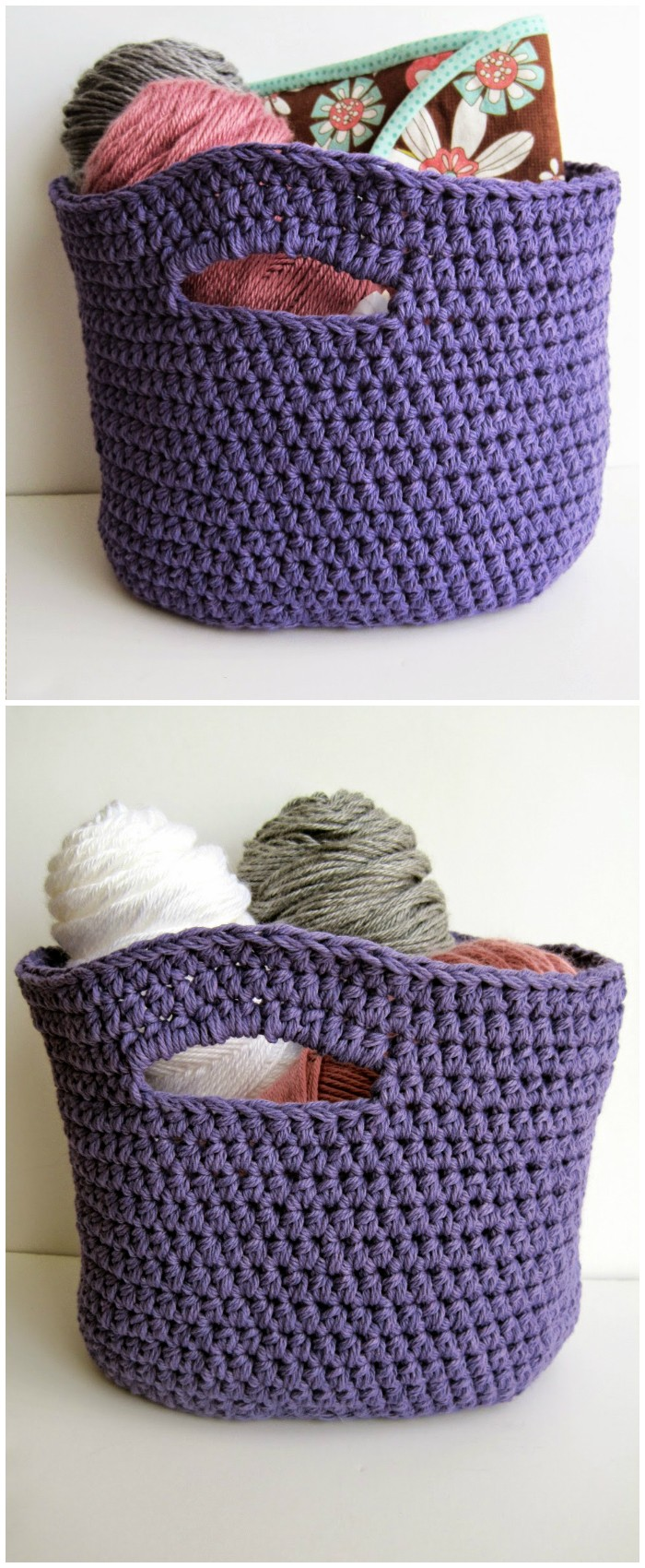 Oval Shaped Crochet Basket