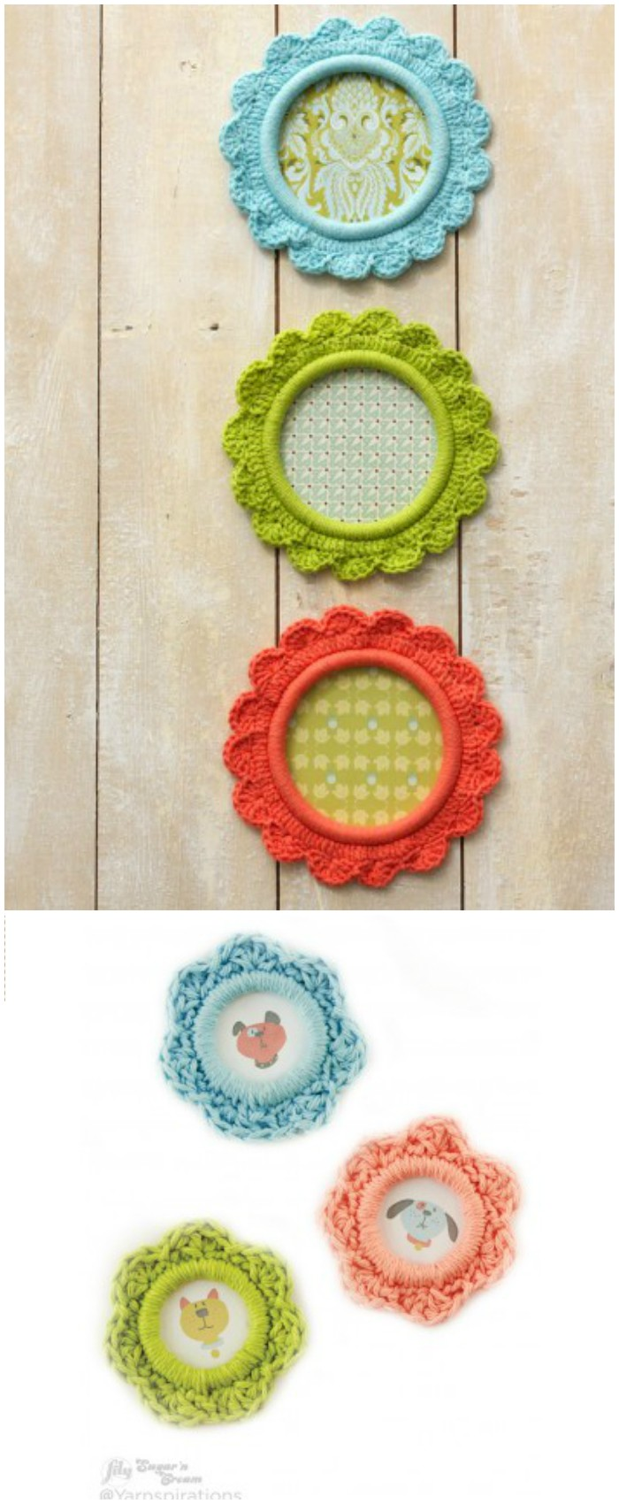 Pretty as a Picture Frame - crochet home decor