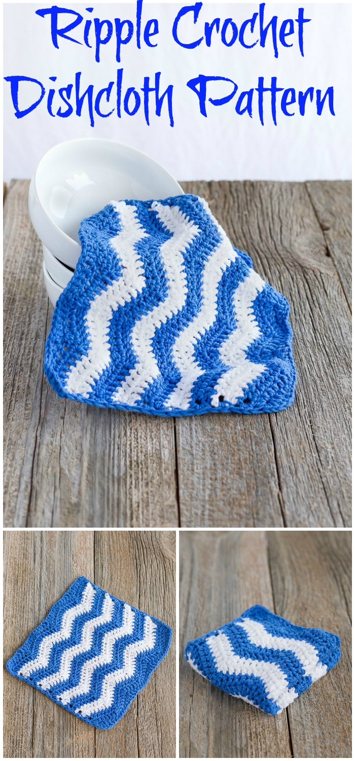 Ripple Crochet Dishcloth Pattern