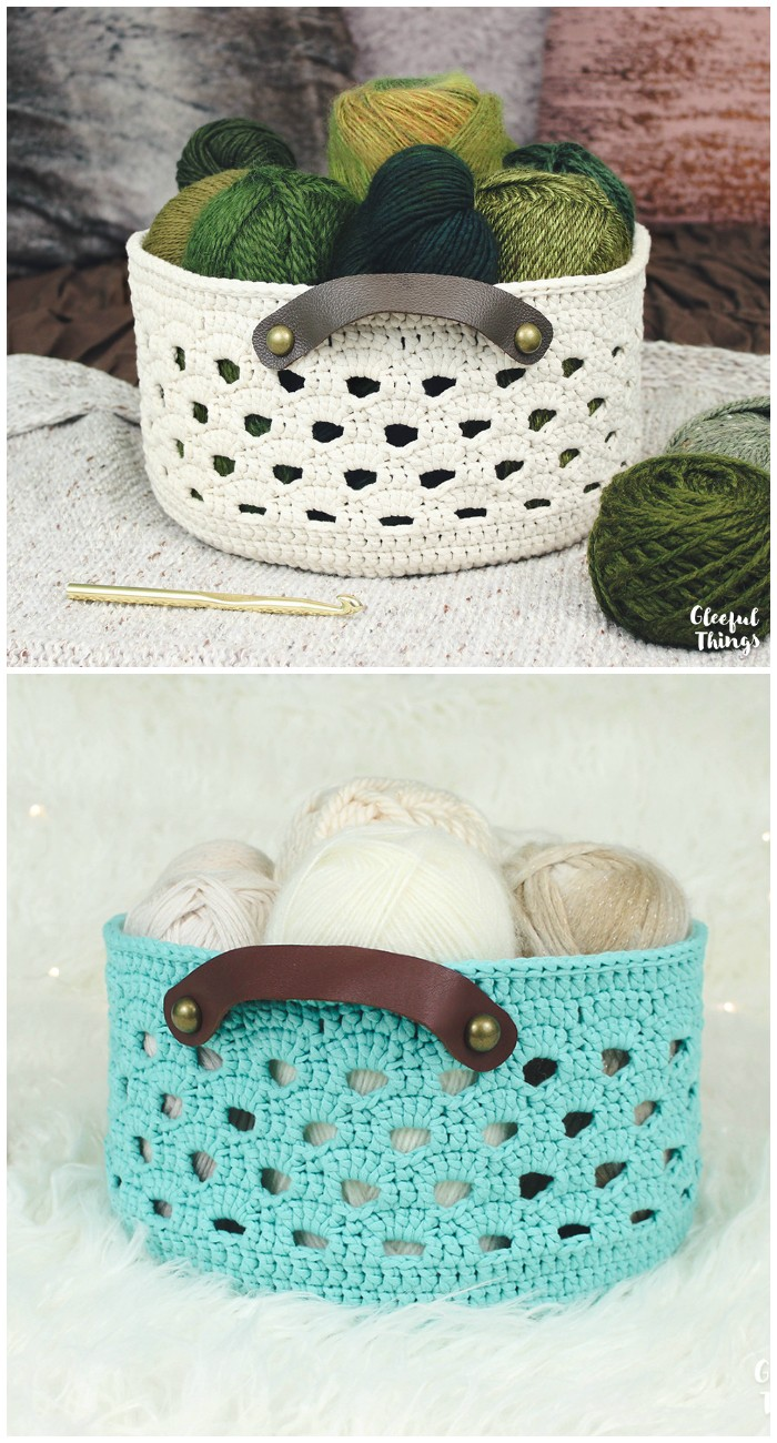 Rustic Lace Basket Crochet Pattern