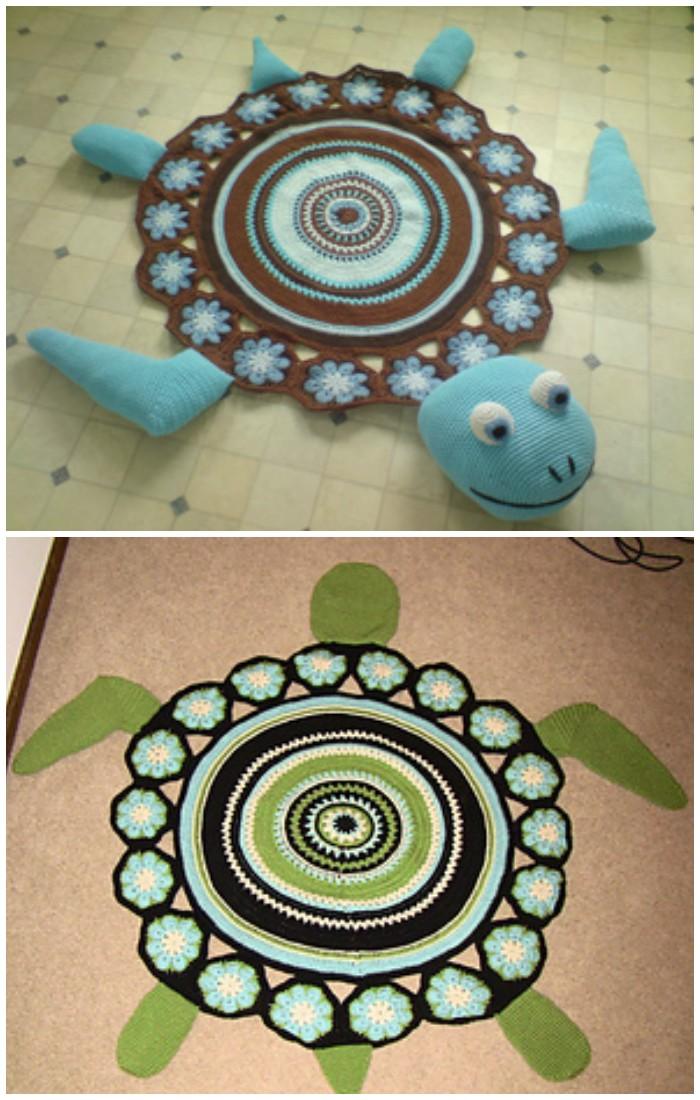 Sea Turtle Rug Gorgeous Crochet Rug Patterns   Free Patterns