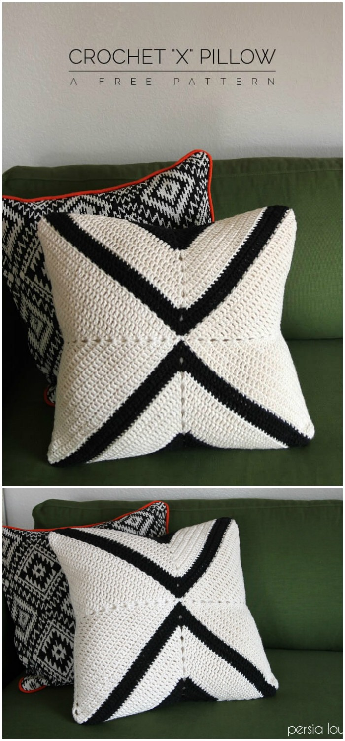 Simple Crochet Pillow Pattern - crochet home decor