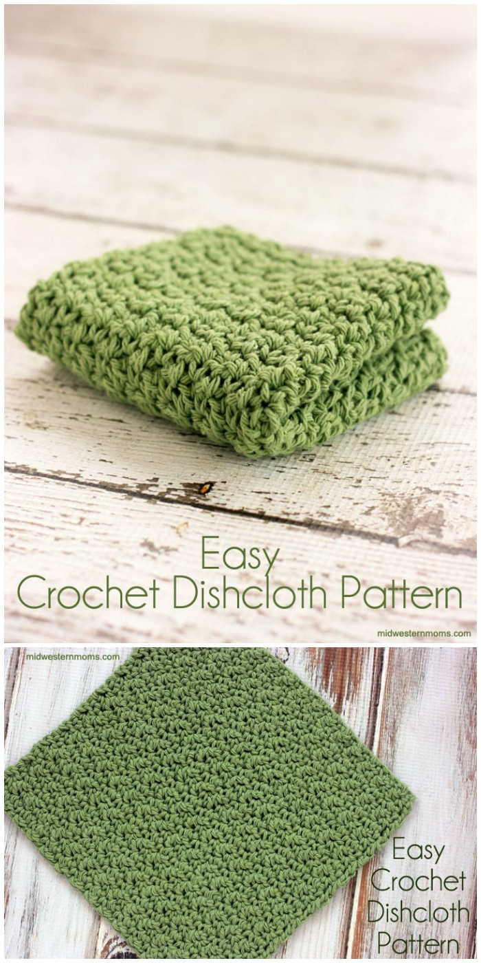 Single Double Crochet Dishcloth Pattern