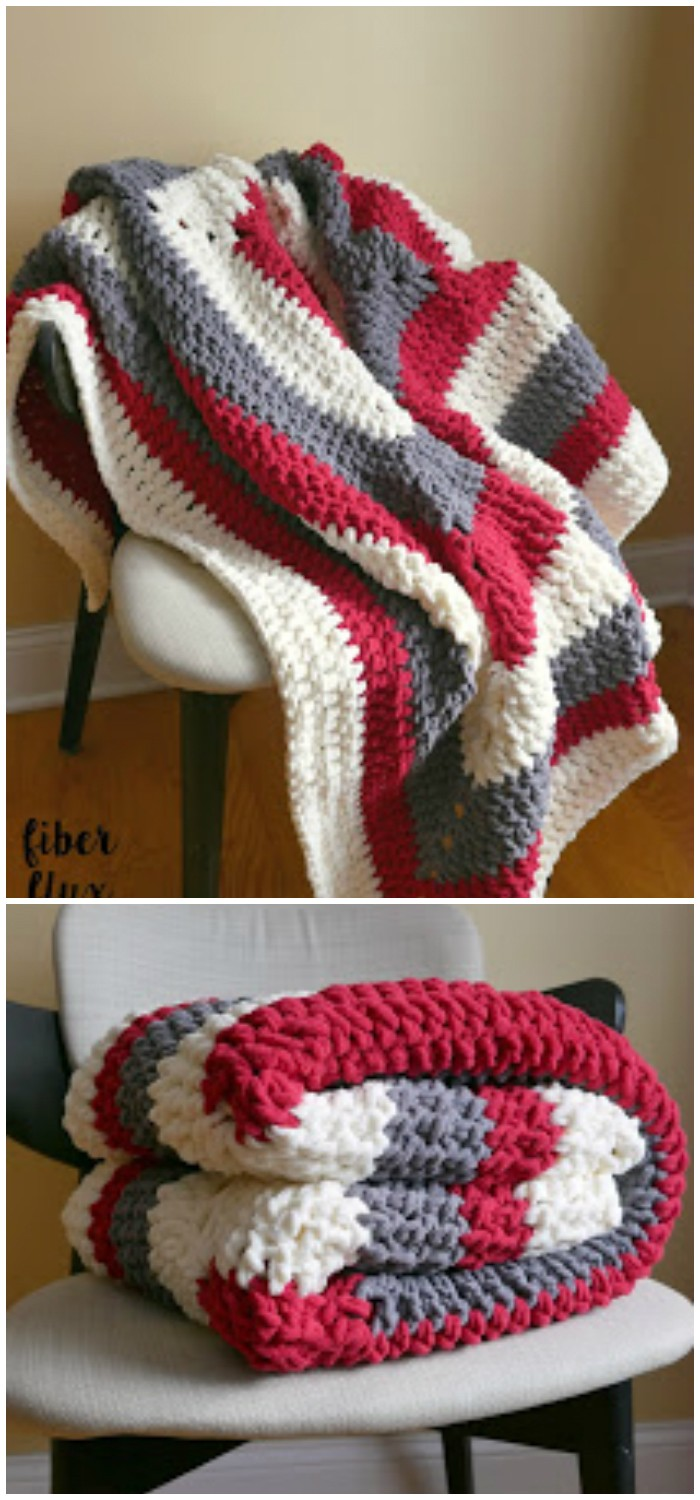 Snow Berries Throw Free Crochet Pattern
