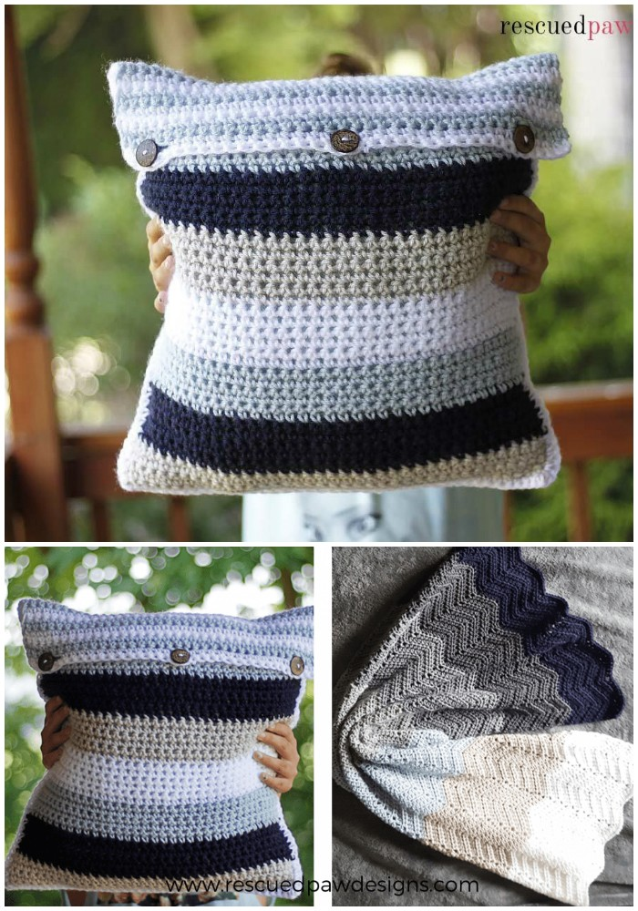 Diy Crochet Throw Pillow : Free Crochet Pillow Patterns To Brighten Up Your Home DIY Home Decor