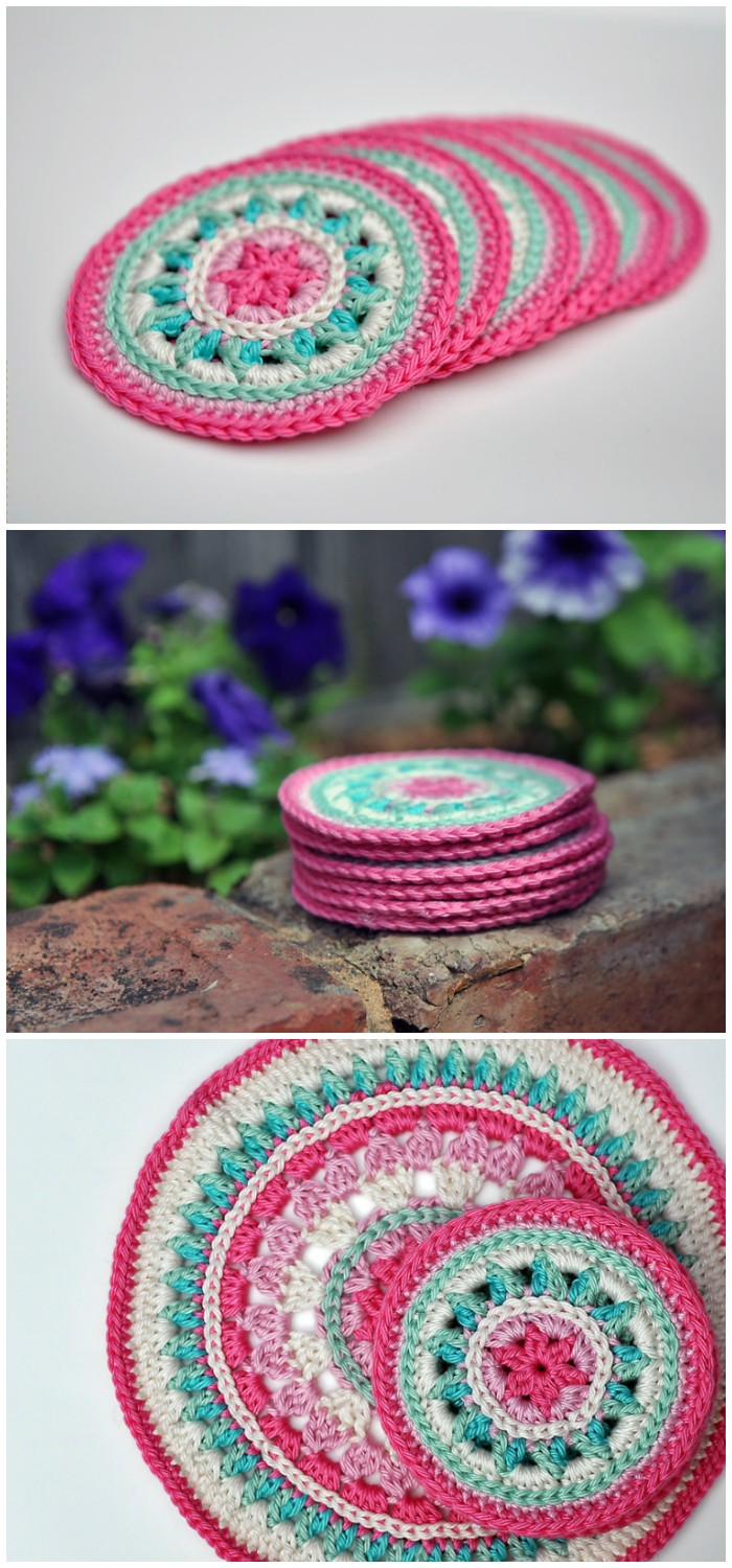 Summer Rose Coasters