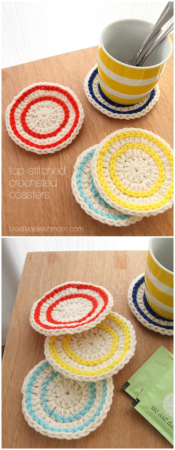 Super Simple Crochet Coasters