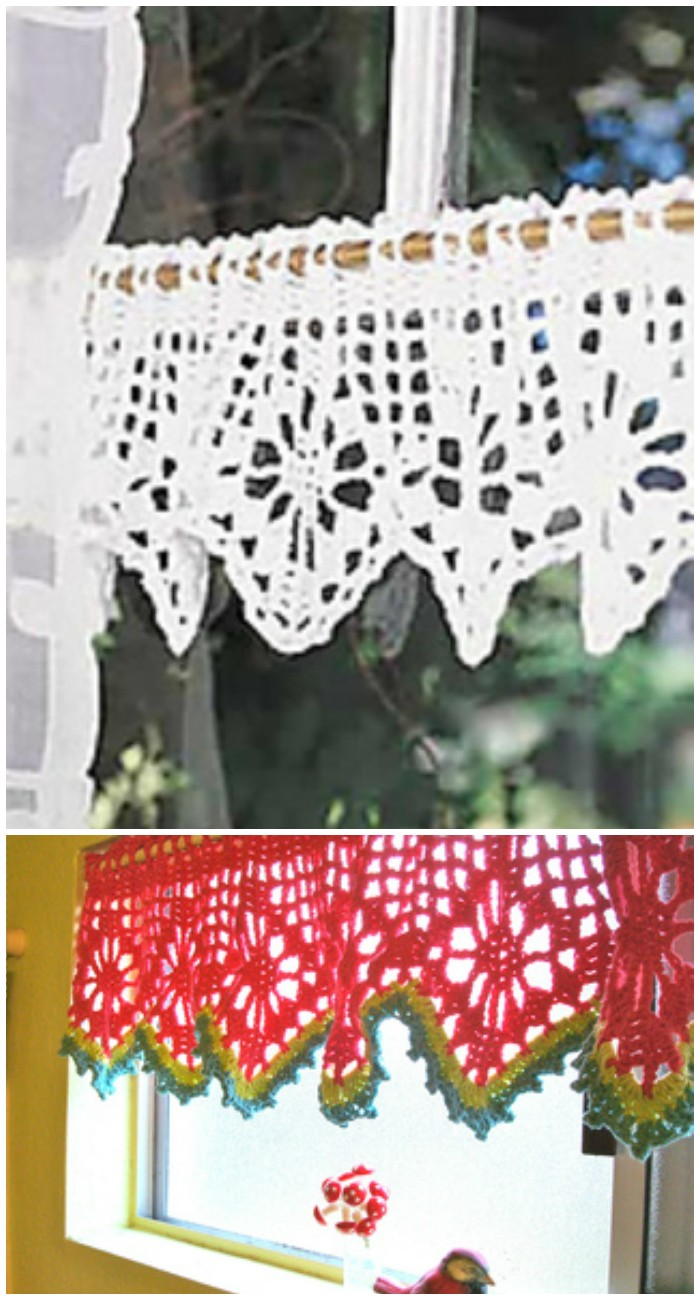 Valance - crochet curtain