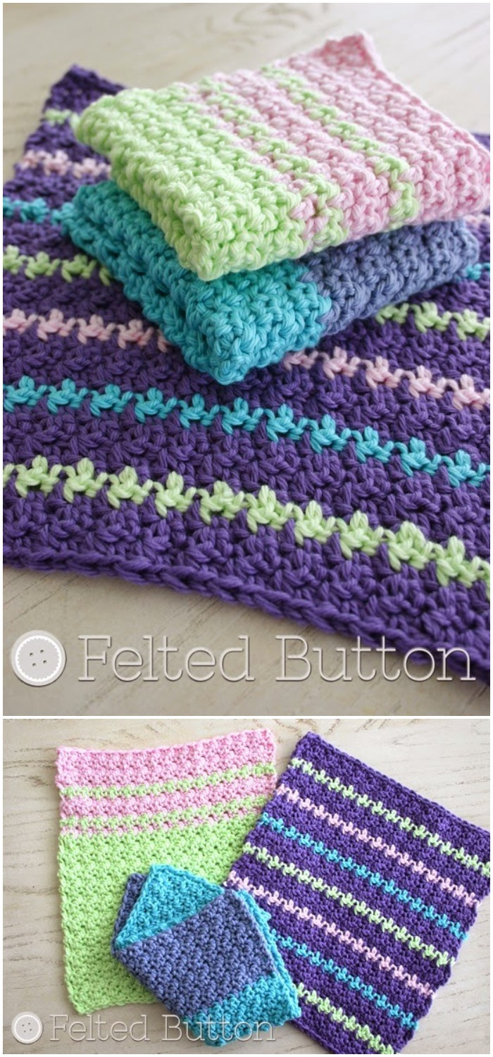 free crochet dishcloth