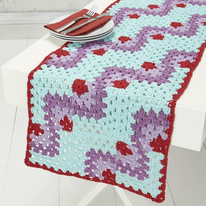 Gorgeous crochet table runner free patterns diy home decor mitered table runner free crochet pattern gorgeous crochet table runner free patterns ccuart Choice Image