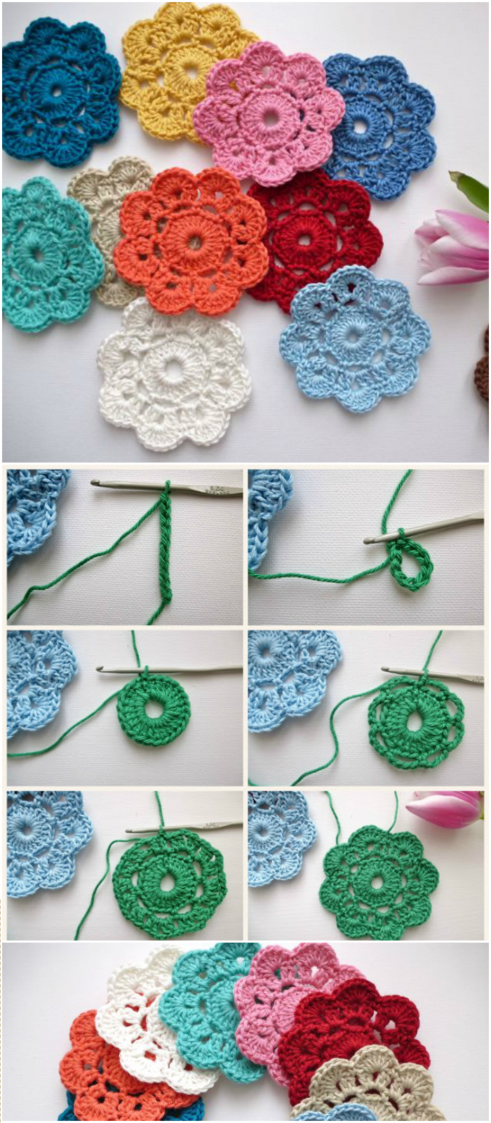 20 crochet flowers pattern to beautify your home diy home decor the maybelle crochet flower 20 crochet flowers pattern to beautify your home izmirmasajfo