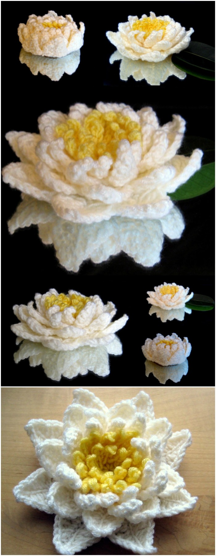 Water Lily 20 Crochet Flowers Pattern To Beautify Your Home