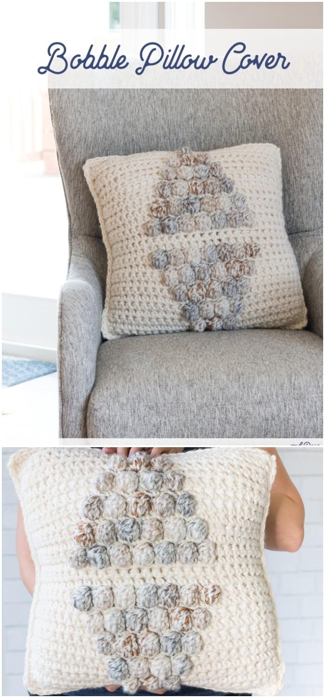 Crochet Bobble Pillow