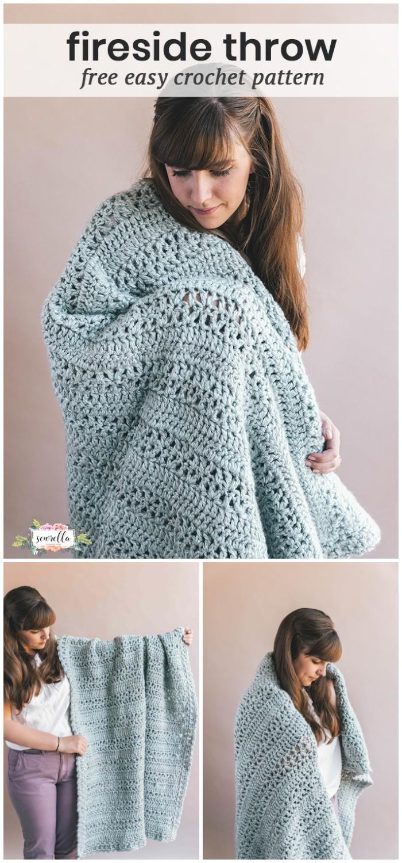 Crochet Fireside Throw